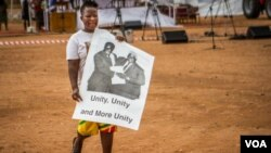 FILE: A Zanu PF supporter at a rally addressed Thursday by First Lady Grace Mugabe. (Taurai Shava)