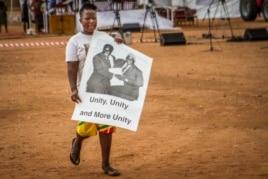 FILE: A Zanu PF supporter at a rally addressed Thursday by First Lady Grace Mugabe. (Taurai Shava)