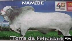 Cartaz outdoor nas ruas do Namibe. Angola