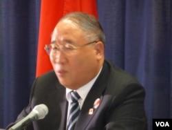中国国家发展和改革委员会副主任解振华(美国之音张蓉湘拍摄)