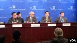 8일 워싱턴의 헤리티지 재단에서 열린 '일본의 안보, 동맹, 그리고 정치적 지형' 토론회.