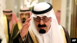 FILE photo of Saudi King Abdullah bin Abd al-Aziz in 2010.