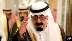 FILE - Saudi King Abdullah bin Abd al-Aziz.