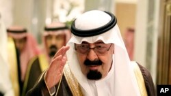 May 11, 2010 FILE photo of Saudi King Abdullah bin Abd al-Aziz.