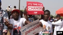 Les partisans de Georges Weah, président élu du Liberia