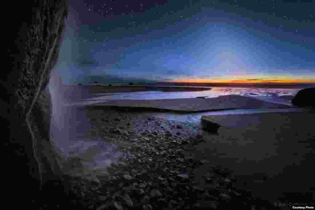 """""""Soxta oqshom va Oregon sohilidagi sharsharalar"""", Ben Kofman (www.bencoffmanphotography.com). (© twanight.org/contest)"""
