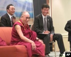 達賴喇嘛與下任西藏總理洛桑森格理念一致