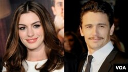 La actriz Anne Hathaway y el actor James Franco copresentarán la 83 edición de los Oscar.