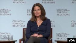 易明 (Elizaeth Economy),美国外交关系协会亚洲研究主任 (美国之音方冰拍摄)