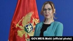 Vesna Bratić, ministarka prosvjete, nauke, kulture i sporta.