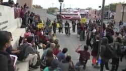 全美各地學生繼續罷課抗議川普當選總統