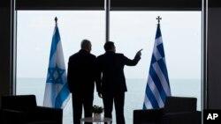دیدار بنیامین نتانیاهو نخست وزیر اسراییل با همتای یونانی