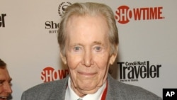 "Actor Peter O'Toole attending the world premiere of the second season of Showtime's ""The Tudors"",in New York March 19, 2008."