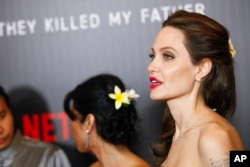 "Angelina Jolie attends screening of Netflix's""First They Killed My Father"" in New York City."