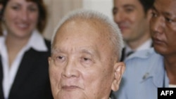 Bị cáo Noun Chea, thường được gọi là Anh Hai, là người đứng đầu công tác ý thức hệ của Khmer đỏ và là cánh tay mặt của thủ lãnh Pol Pot