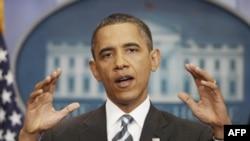 Predsednik Obama tokom današnje konferencije za novinare na kojoj je diskutovao o pregovorima sa republikancima oko povećanja limita zaduživanja federalne vlade