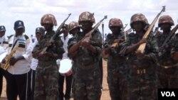 Pasukan Somalia di wilayah semi-otonom Puntland (foto: dok). Dua konsultan PBB ditembak tewas di Puntland, Senin 7/4.