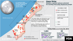 Gaza Conflict, death tolls, July 31, 2014