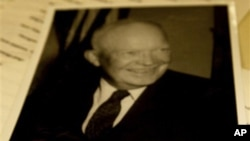 艾森豪威尔总统图书馆里的艾森豪威尔总统的临别致词手稿