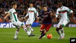 Lionel Messi à barcelone le 9 janvier 2016. (AP Photo/Manu Fernandez)