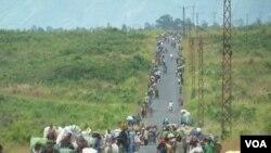 Imiryango myinshi ihunga ubwicanyi bwo muri Kongo