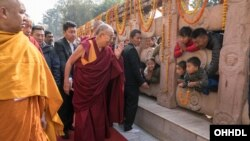 The Dalai Lama Greeting Young Pilgrims