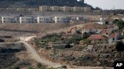13일 요르단강 서안지구 내 유대인 정착촌 건설현장의 모습. 이스라엘 당국은 건설을 잠정 중단한다고 밝혔다.