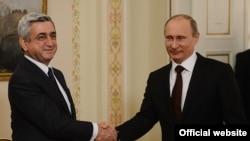 Հայաստանի նախագահ Սարգսյանի հանդիպումը Ռուսաստանի իր գործընկեր Վլադիմիր Պուտինի հետ (արխիվային լուսանկար)