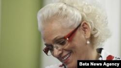 Jorgovanka Tabaković tokom vanrednog zasedanja Skupštine Srbije, Beograd, 6. avgust 2012.