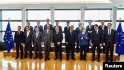 رهبران اروپایی حاضر در نشست بروکسل برای بحث درباره پذیرش مهاجران
