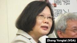 台灣總統主席蔡英文 (美國之音張永泰拍攝資料照)