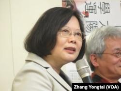 台湾在野党民进党主席蔡英文 (美国之音张永泰拍摄)