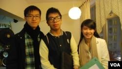 3名學民思潮成員(左起)張秀賢、林朗彥、黃莉莉認為,反國教運動已經暫告一段落