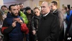 Владимир Путин в Кемерово. 27 марта 2018г.
