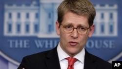 Juru Bicara Gedung Putih, Jay Carney mengatakan bahwa AS akan merespon dugaan penggunaan senjata kimia oleh pemerintah Suriah. (foto: dok)