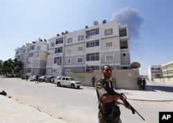 利比亚反对派部队占领的黎波里大部分地区