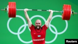Og'ir atletika bo'yicha o'zbekistonlik Olimpiada chempioni Ruslan Nuriddinov
