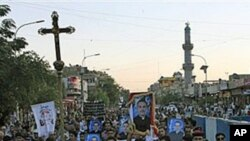 مراسم مذهبی مسیحیان بعد از حملۀ مهلک در عراق