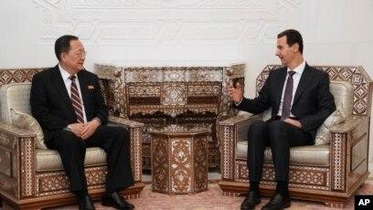 Ông Ri Yong Ho gặp Tổng thống Syria Bashar al-Assad hôm 4/12.