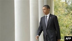 Kaddafi'nin ölümünün ardından Beyaz Saray'da açıklama yapan Başkan Obama