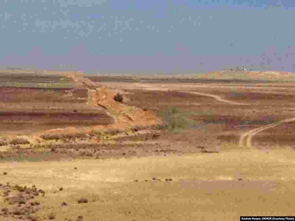 Jordan desert, near the far eastern border with Iraq