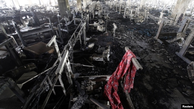 A scarf of a garment worker in the burnt interior of Tazreen Fashions, Savar subdistrict, Dhaka, Bangladesh, Nov. 28, 2012.