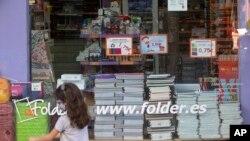 Học sinh Madrid, Tây Ban Nha chuẩn bị đi học trở lại (ảnh chụp ngày 24/8/2020)