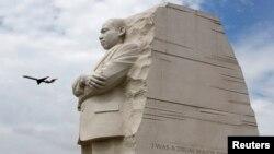 El monumento a Martin Luther King, Jr. en West Potomac Park en Washington, congrega a miles de visitantes.