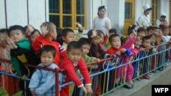 세계식량계획, WFP가 지원하는 북한 내 보육 시설. (자료사진)