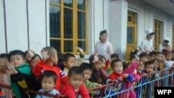 WFP가 지원하는 북한 내 보육 시설.