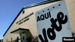 Biračko mesto na primarnim izborima u Teksasu