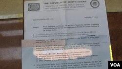 Juba a sommé toutes les entreprises privées et ONG du pays de cesser d'employer des étrangers sous un mois et de les remplacer par des locaux(VOA)