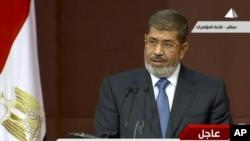 Tổng thống Ai Cập Mohammed Morsi phát biểu trước Quốc hội ở Cairo, 1/12/2012