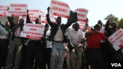 Zimbabwe civil servants protesting over low salaries